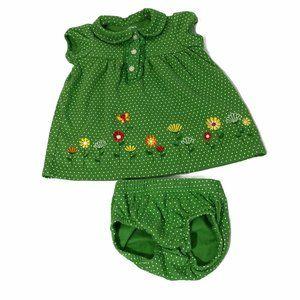 Carter's Green 2 Piece Dress and Bottoms 3 Months
